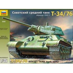 Char Russe T-34/76 - 1/35 - ZVEZDA 3535