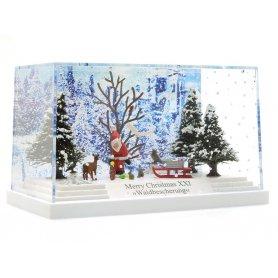 Diorama de Noël, Père Noël dans la forêt - HO - BUSCH 7651