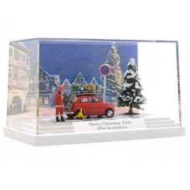Diorama de Noël, pas de chance - HO - BUSCH 7653