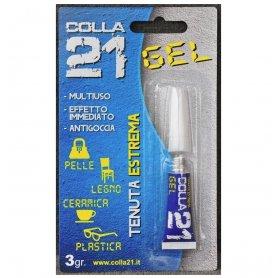 Colle 21 gel cyanoacrylate - Tube de 3 grammes