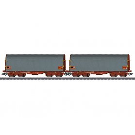 Coffret 2 wagons bâchés Ep VI SNCF - HO - MARKLIN 47218