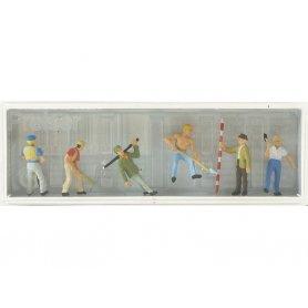 PREISER 10030 - Ouvriers avec outils - HO 1/87