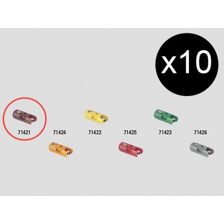 10 fiches de connexion mâles marron Märklin 71411