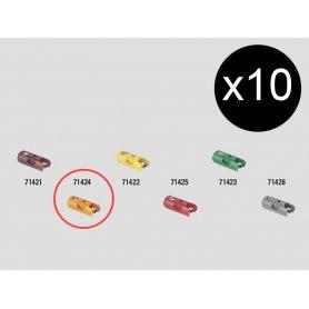 10 fiches de connexion femelles orange - Märklin 71424
