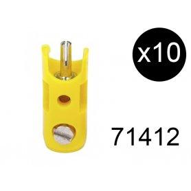 10 fiches de connexion mâles jaunes - Märklin 71412