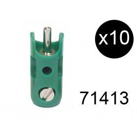 10 fiches de connexion mâles vertes - Märklin 71413