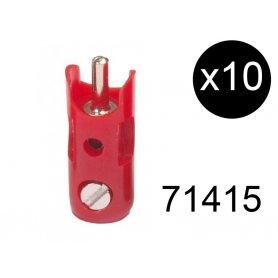 10 fiches de connexion mâles rouges - Märklin 71415