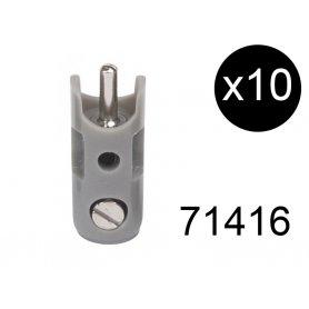 10 fiches de connexion mâles grises - Märklin 71416