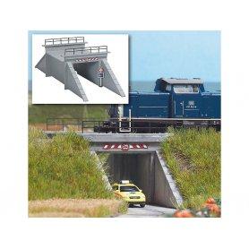 Petit pont ferroviaire en béton 1 voie échelle N - BUSCH 8150