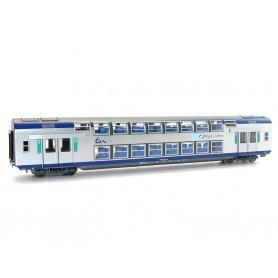 VO2N 2ème classe TER Centre SNCF HO éclairage intérieur - VITRAINS 3165L