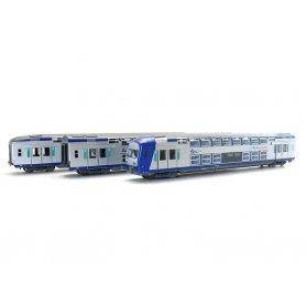 Coffret 3x VO2N 2ème classe TER Centre SNCF HO - VITRAINS 1104