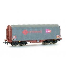 Wagon à bâche coulissante Ermewa SNCF ép VI - SNCF - HO - ROCO 76450