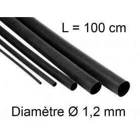Gaine thermo retractable Ø 1,2 mm - longueur 1 mètre