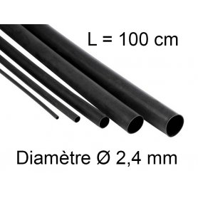 Gaine thermo retractable Ø 2,4 mm - longueur 1 mètre