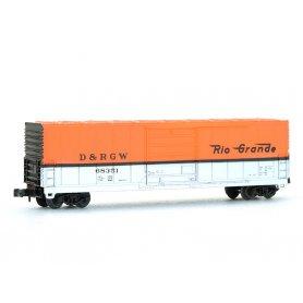 Wagon EVANS 50' D&RGW échelle N - BEV-BEL 10007