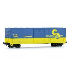 Wagon EVANS 50' Chesapeake Ohio échelle N - BEV-BEL 10024