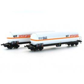 Set 2 wagons Uas Elf antargaz - Marcel Millet - SNCF ép.IV-V - HO - LS Models 30751