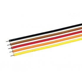 Câble plat 5 pôles - 10 mètres -  0,7 mm² - ROCO 10625
