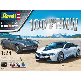 Coffret complet 100 BMW - BMW i8 et 507 - échelle 1/24 - REVELL 05738