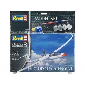Planeur duo Discus et moteur kit complet avec peinture - échelle 1/32 - REVELL 63961
