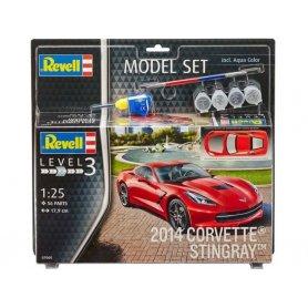 Corvette Stingray 2014 kit complet avec peinture - échelle 1/25 - REVELL 67060