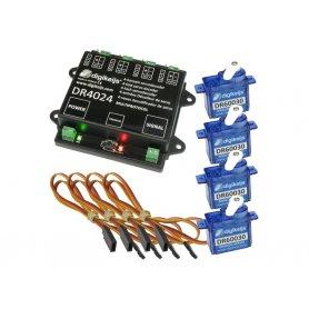 Set décodeur avec 4 servomoteurs DIGIKEIJS DR4024BOX