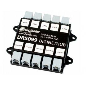 Hub LocoNet et X-Bus 10 sorties DIGIKEIJS DR5099