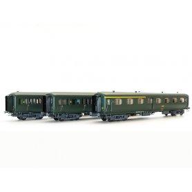 Set 3 voitures Express Nord A7, B5d, B9 SNCF - ép IV - HO - 40329 LS Models