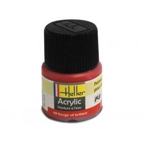 Rouge vif brillant Heller 19 acrylique - 12ml - HELLER 9019