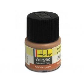 Cuivre jaune Heller 12 acrylique - 12ml - HELLER 9012