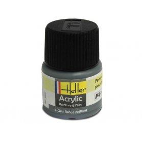 Gris foncé brillant Heller 5 acrylique - 12ml - HELLER 9005