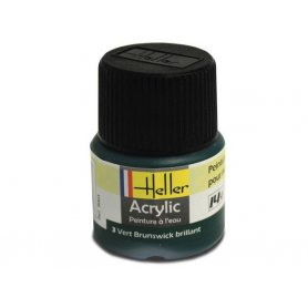 Vert brunswick brillant Heller 3 acrylique - 12ml - HELLER 9003