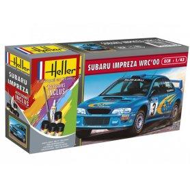 SUBARU Impreza WRC'00 avec peinture - échelle 1/43 - HELLER 56194
