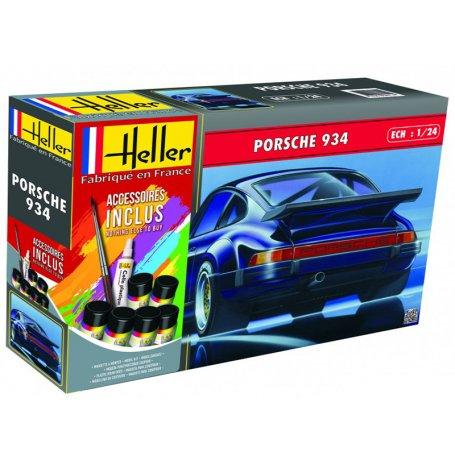 Porsche 934 Kit complet avec peinture - échelle 1/24 - HELLER 56714