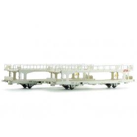 2x wagons porte autos TA 260 Less STVA longs SNCF Ep IV-V - HO - LS Models 30702