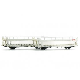 2x wagons porte autos TA 260 Less STVA Wincar SNCF Ep V - HO - LS Models 30703