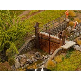 2 barrages de ruisseau échelle HO FALLER 180390