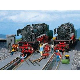 2 fosses de visites pour locomotives échelle HO FALLER 120136