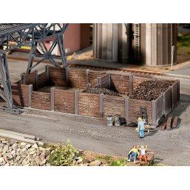 Parc à charbon pour dépôt ferroviaire échelle HO FALLER 120254