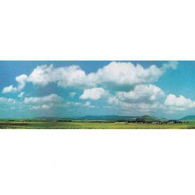 Fond de décor nuages et campagne - extension - FALLER 180511