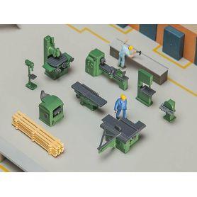 Set de machines et outils pour équipement d'atelier échelle HO FALLER 180455