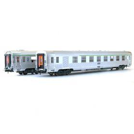 Set 2 voitures DEV 2ème cl.-fourgon - 2ème cl. ép. IV - SNCF - HO - JOUEF HJ4100