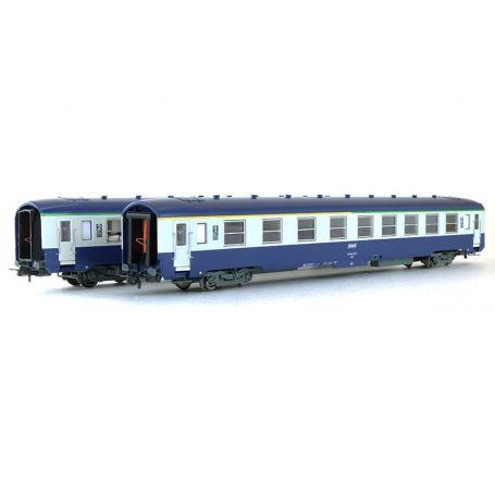 Set 2 DEV AO mixte et 2ème cl. couchettes . ép. IV - SNCF - HO - JOUEF HJ4105