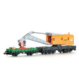 Wagon grue MAN jaune - échelle N - ARNOLD 4650