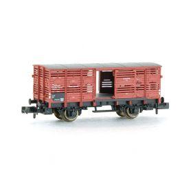 Wagon à bestiaux avec portes coulissantes échelle N FLEISCHMANN 8354