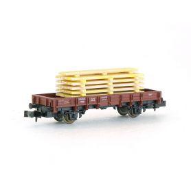 Wagon à plat avec chargement de bois échelle N ROCO
