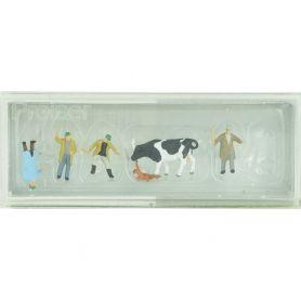 Marchands de bestiaux, vache, chiens - Preiser 79080