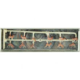 12 cerfs, biches et faons échelle N - Walter Merten 2411