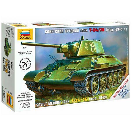 Char Soviétique T-34/76 - 1/72 - ZVEZDA 5001