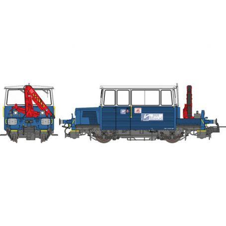 DU65 6 118 SUD-EST avec GRUE Brosseuse SNCF ép. V analogique - HO - REE MB-110
